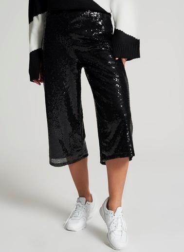 Pi π Payetli Pantolon Siyah